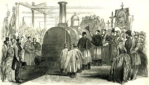 Benediction of the Rouen en Havre Railway; France; 1847; France