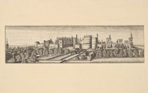 Berkshire, with Windsor Castle, after 1666, Etching, Sheet: 2 1/4 x 8 1/4 in. (5