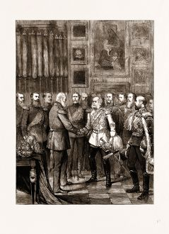 BIRTHDAY RECEPTION OF THE EMPEROR OF GERMANY AT BERLIN, GERMANY, 1875: THE EMPEROR