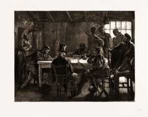 AMONG THE BRIGANDS, THE VICTIM UNDER CROSS-EXAMINATION, 1875