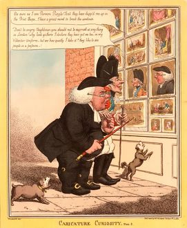 Caricature curiosity, Caricature of a porcine clergyman and a skinny volunteer officer