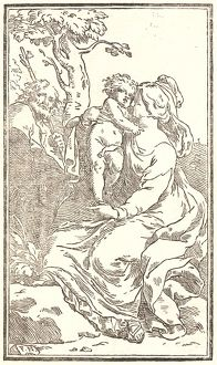 Carlo Francesco Nuvolone (Italian, 1609 - 1662). The Holy Family, ca. 1630- 1660. Woodcut