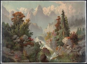 Cascade in the Rocky Mountains; Cincinnati : Gibson & Co