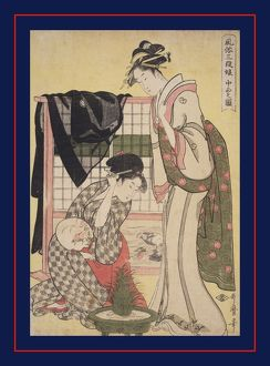 ChA'AA»bon no zu = [Picture of the middle class], Kitagawa, Utamaro (1753?-1806)