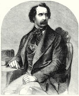 Charles Dickens, from a recent daguerreotype by Mayall, 1 December, 1855