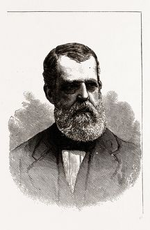Charles H. Bell Governor Elect of New Hampshire, 19th century engraving, USA, America