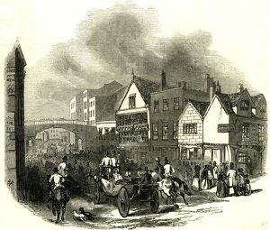 Chester, U.K., 1846, Lower Bridge street. The Cup Day