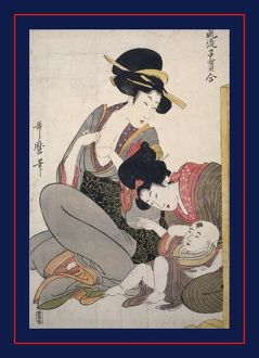 Chichi] = [About to breastfeed], Kitagawa, Utamaro (1753?-1806), (Artist), Date Created