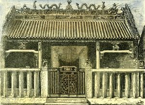 Chinese house, Saigon, Vietnam, 19th century