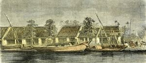 Chinese part of Saigon, Vietnam, 19th century