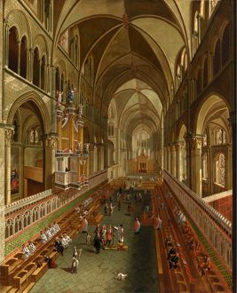 The Choir, Canterbury Cathedral, unknown artist, 18th century, British