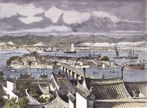 City of Foochow, engraving 1884