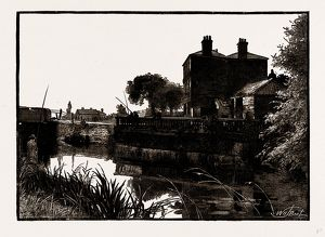 COOK'S FERRY, UK, engraving 1881 - 1884