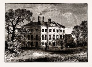 COPPED HALL, NEAR EPPING, UK, engraving 1881 - 1884