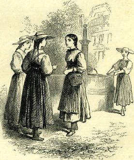 COSTUME OF SWISS GIRLS, Switzerland