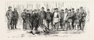 THE CZAR'S HUNTING PARTY, ENGRAVING 1884