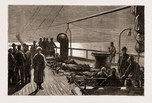DECK PASSENGERS: A MOONLIGHT SKETCH ON THE FORECASTLE, 1876