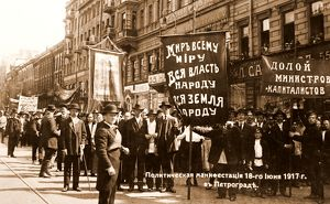 Demonstration on the Nevsky Prospect, at Petrograd, Saint Petersburg, 18th June 1917