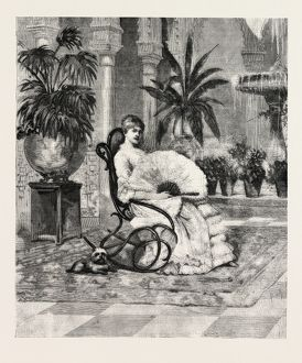 DOHA EULALIA OF SPAIN, ENGRAVING 1882