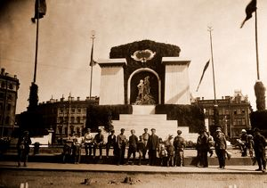 Front door of Smolny Institute, Petrograd, Saint Petersburg, July 1920, Russia, History