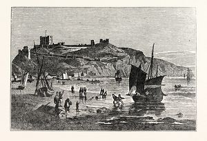 Dover Castle, from the Beach under Shakspeare's Cliff