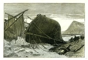 Dover, U.K., 1887, wreck of the Russian vessel Joutsen