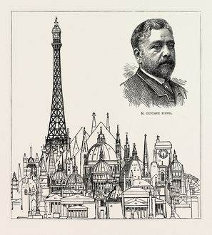 THE EIFFEL TOWER AT THE PARIS EXHIBITION AS COMPARED WITH SOME OF THE HIGHEST BUILDINGS