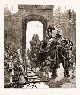 ENTRY OF THE PRINCE OF WALES INTO JAMMU WITH THE MAHARAJAH OF KASHMIR, INDIA, 1876