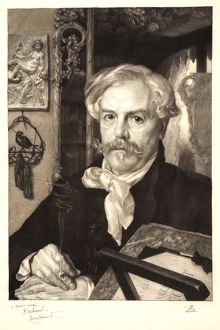 Felix Bracquemond (French, 1833 - 1914). Portrait of Edmond de Goncourt, 1882