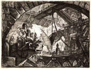 Giovanni Battista Piranesi (Italian, 1720 - 1778). Prisoners on a Projecting Platform