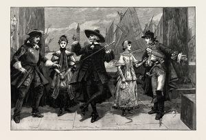THE GONDOLIERS AT THE SAVOY THEATRE, THE QUINTETTE IN THE FIRST ACT, LONDON UK 1889