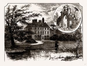 FORTY HALL AND THE OLD GATEWAY, UK, engraving 1881 - 1884