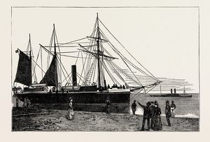 H.M.S. Watchful, gunboat, Lowestoft harbour, UK 1889