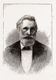 HON. 0. M. ROBERTS, GOVERNOR OF TEXAS, 1880, 19th century engraving, USA, America