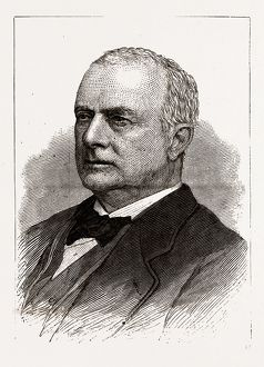 THE HON. G. C. LUDLOW, GOVERNOR-ELECT OF NEW JERSEY, 19th century engraving, USA, America