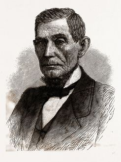 THE HON. JAMES D. WILLIAMS, LATE GOVERNOR OF INDIANA, 19th century engraving, USA