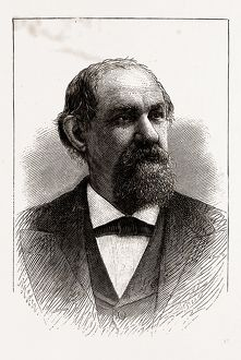 THE HON. T. J. JARVIS, GOVERNOR OF NORTH CAROLINA, 1880, 19th century engraving, USA