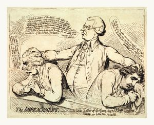 The impeachment, or The father of the gang turned Kings evidence, Gillray, James