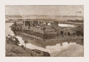 The Island of Philae, The Nile, Egypt, 1880, 19th century engraving