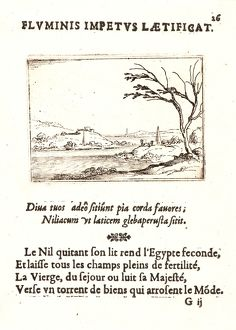 Jacques Callot (French, 1592 - 1635). Le Nil Inondant L'Egypte, 17th century