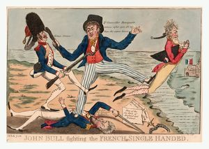 John Bull fighting the French single handed, P