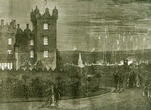 Kelso; Castle; 1867; U.K.; The Queen's visit to the scottish border; The fireworks