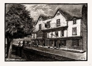 THE ' KING'S HEAD,' CHIGWELL, UK, engraving 1881 - 1884
