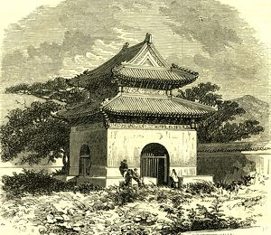 Kiosk at Beijing, 1866, China
