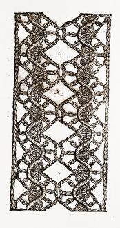 LACE INSERTION, NEEDLEWORK, 19th CENTURY EMBROIDERY