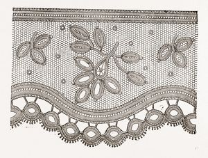 LACE FOR WASHING MATERIALS, NEEDLEWORK, 19th CENTURY EMBROIDERY