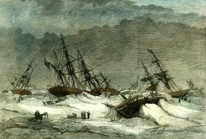 Lapland, Wrecks, 1867, on the coast caused by the ice in the white sea, destruction