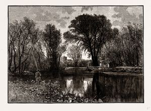 ON THE LEA, UK, engraving 1881 - 1884