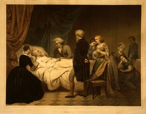 Life of George Washington The Christian death / / painted by Stearns ; lith. by Regnier