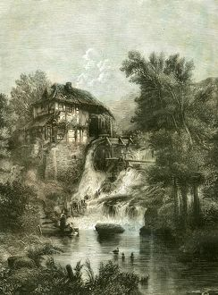 The cottage by the Mill, U.K., 19th century